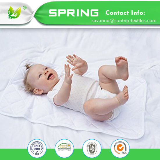 Premium 100% Organic Baby Infant 3 Layers Waterproof Bamboo Cotton Changing Pads Washable