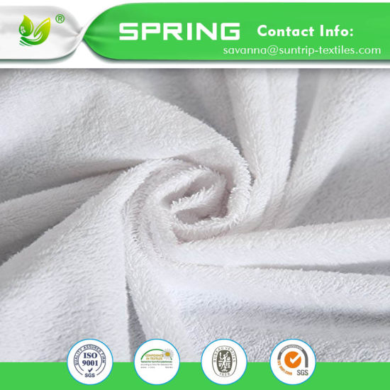 Waterproof Mattress Protector Terry Towel Non Noisy with Natural Cotton Fibers