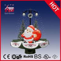 (118030U075-ST-GS) Snowing Christmas Decorations with Umbrella Base
