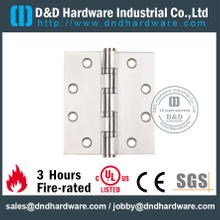 Stainless steel durable four ball bearing Fire Rated Door Hinge for Wooden Door -DDSS002