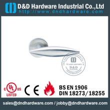 SUS304 Casting Internal Lever Door Handle on Rose for Fire-Rated Doors -DDSH021
