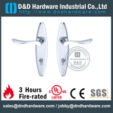 Stainless Steel 304 Solid Die-casting Handle with Plate for Wooden Door-DDLP002