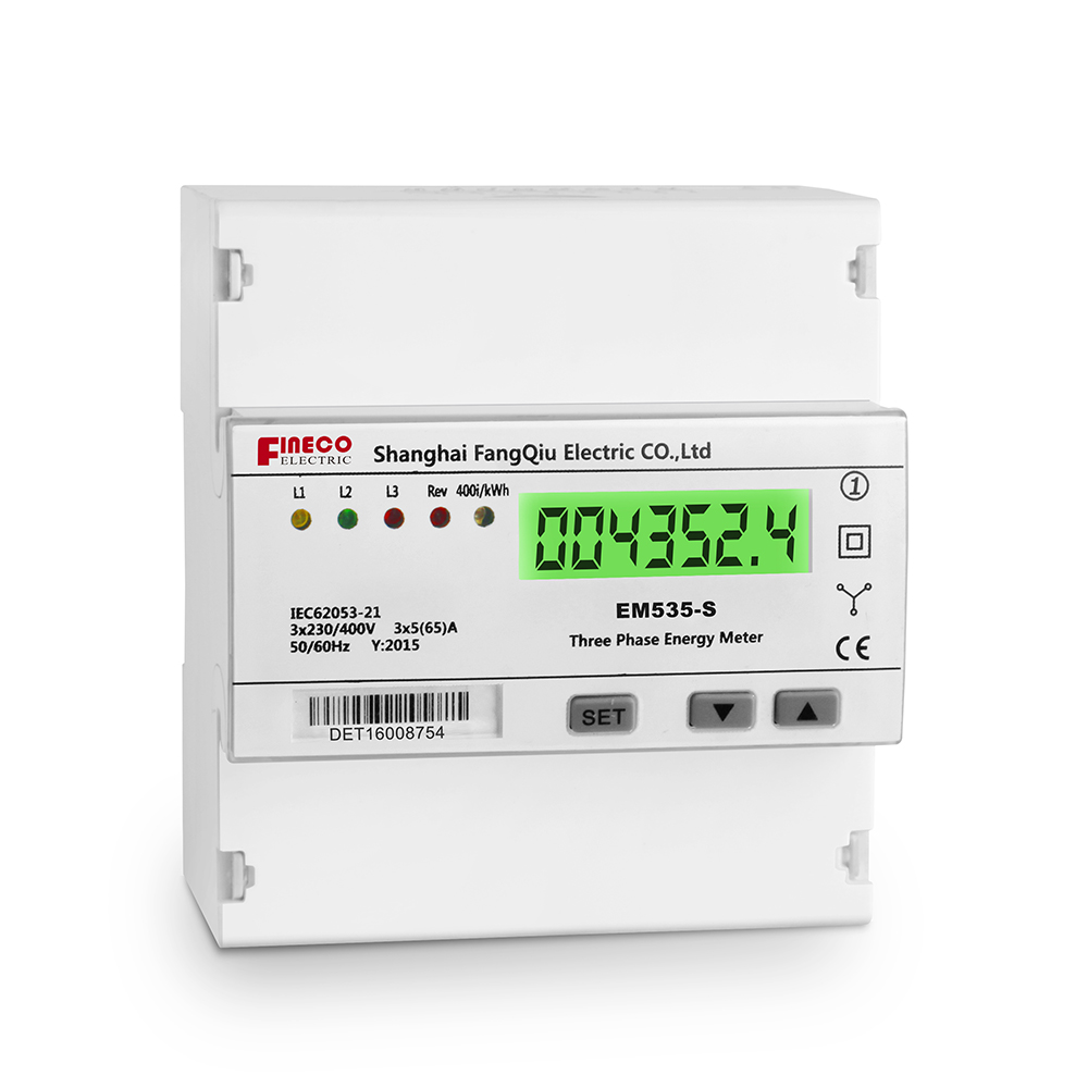Em535 S 565a Three Phase Direct Connected Meter Five Modular Din 3 4 Wire Wiring 1 L1 In Out 6 L2 7 9 L3 11 Neutral 20 23 Kwh Test Pulse Output Contact 2320