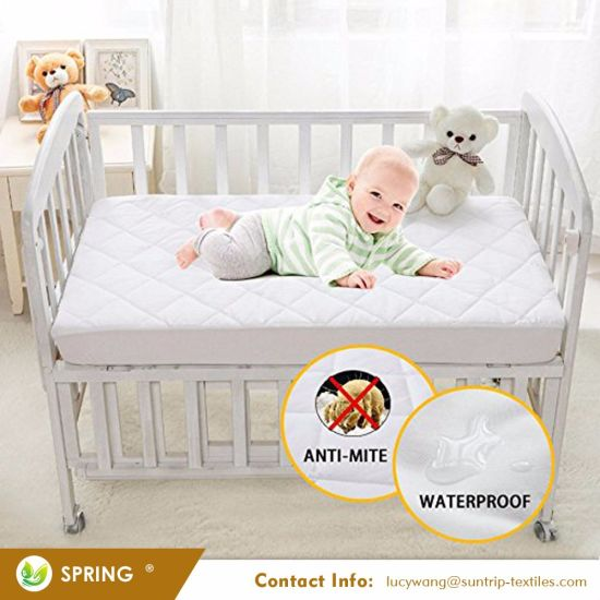 Waterproof Ultra Soft Baby Quilted Fitted and High Absorbency Cover Crib Mattress Pad Protector for Your Baby Safety