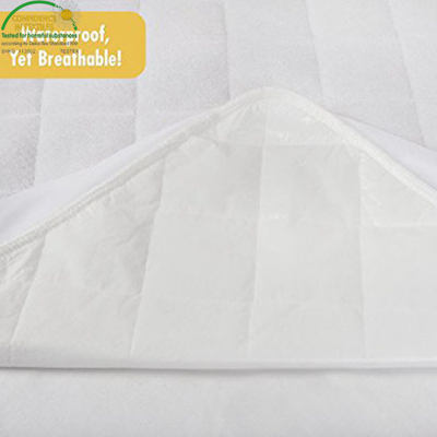 Ultra Soft Waterproof From Bamboo Rayon Fiber Fitted Crib Mattress Pad Cover