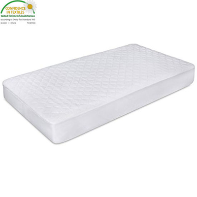 Comfortable Breathable Bamboo Material Machine and Dryer Friendly Waterproof Crib Mattress Pad