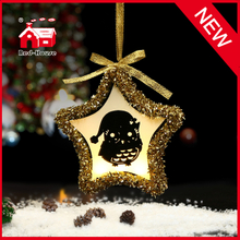 Glass Decorative Star Shaped Christmas Ornaments