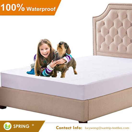 Full Size Premium Hypoallergenic Mattress Protector - 100% Waterproof - Vinyl Free - Fitted Mattress Cover