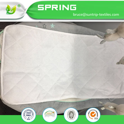 Quilted Crib Size Toddler Bed Mattress Pad Cover White Padding Waterproof