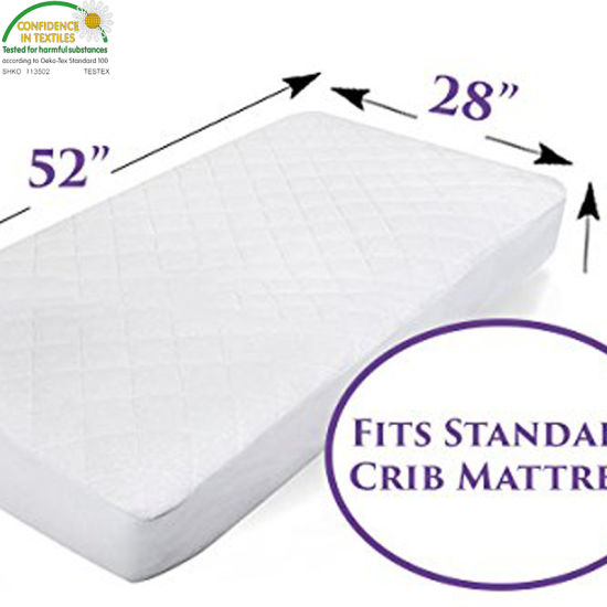 Hypoallergenic Waterproof Crib Mattress Pad Cover/Protector