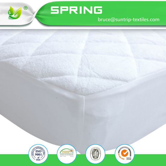 Mattress Protector - 100% Waterproof, Hypoallergenic - Premium Fitted Cotton Terry Cover