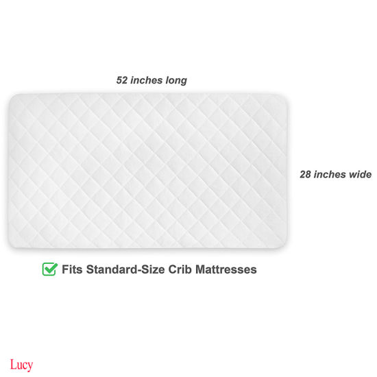 Made with Eco-Friendly Bamboo Rayon Fiber Waterproof Crib Mattress Pad Cover