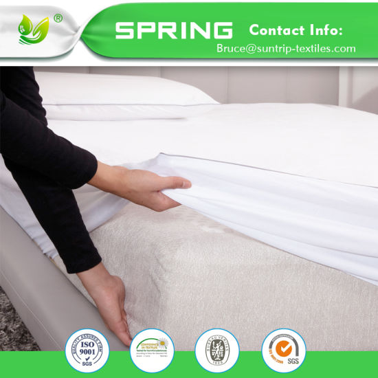 Bed Bug Waterproof Cotton Topper Hypoallergenic Mattress Cover/Protector