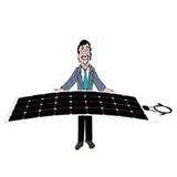 Flexible solar panel use of attention