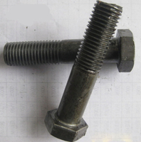 Grade 4.8 Grade 8.8 Plain Hex Head Bolts , Black Finish strength Bolt with nut and washer