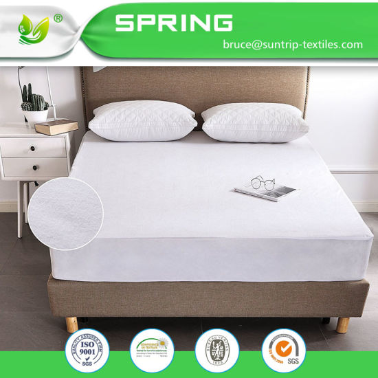 Queen Size Mattress Protector Bed Cover 100% Breathable Waterproof Soft Cotton