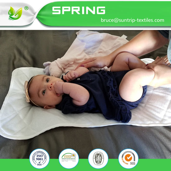 Premium Soft Organic Cotton Waterproof and Absorbent Baby Changing Pad