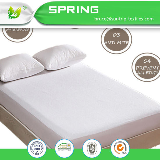 Hypoallergenic Waterproof Mattress Protector Terry Towel Non Noisy with Cotton Cover