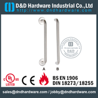 Rust-proof Single D Pull Handle with Rose for Front Metal Door with Mirror Finish -DDPH019
