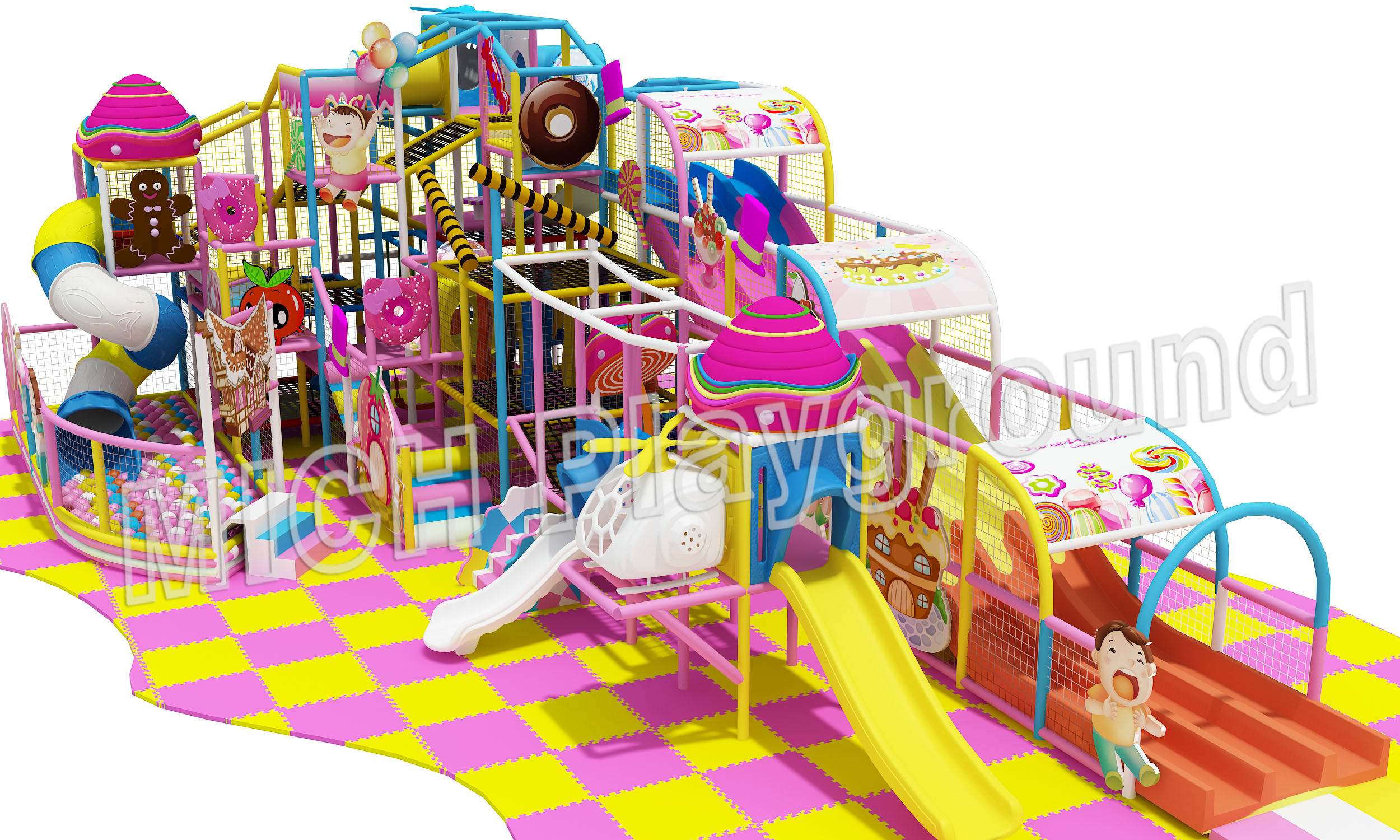 Mich Funny Indoor Amusement Playground 6645A