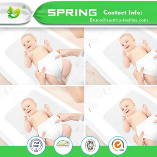 Baby Organic Waterproof Crib Mattress Pad - Hypoallergenic Quilted Crib Fitted