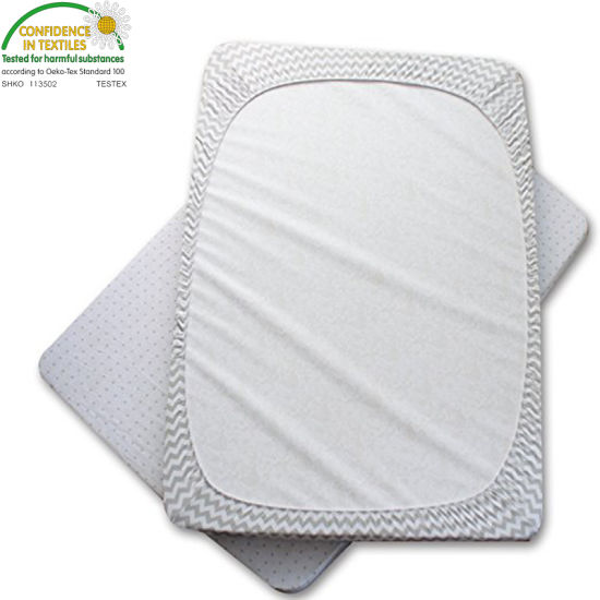 Five Sided Guards Top and Sides of Mattress From Liquids Waterproof Crib Mattress Pad/Cover