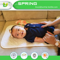 Waterproof Hypoallergenic Bamboo Baby Changing Pad Liners (Pack of 3)