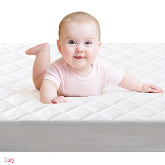 Hot Selling Amazon Bamboo Fiber Waterproof Bamboo Crib Mattress Pad Cover