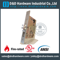 Stainless steel American Mortise Lock with UL Listed for Entry Double Door-DDML ANSI F20
