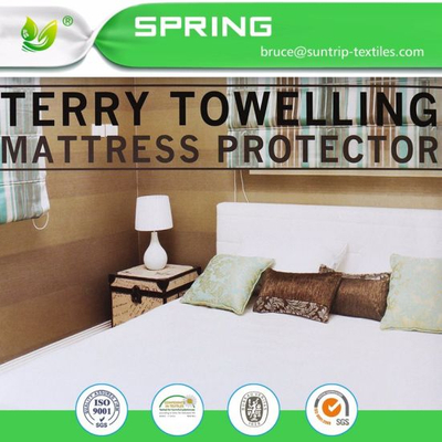 Hypoallergenic Mattress Protector Sheet Machine Washable mattress Cover Gift Queen Size White