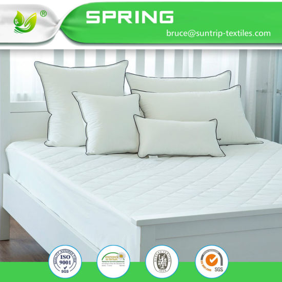 100% Waterproof Hypoallergenic Mattress Cover with Cotton Terry Surface