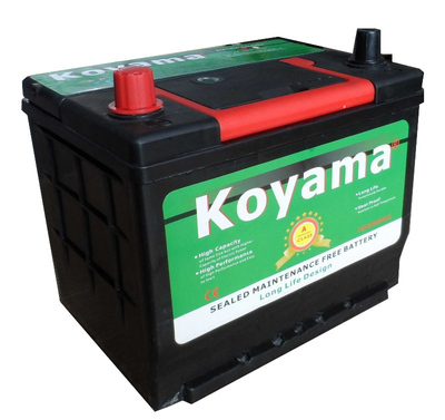 12V60AH Super Calcium Maintenance Free Battery Koyama Brand MF Car Battery 55D26R (N50ZMF)