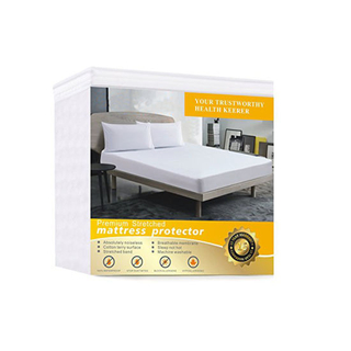 Comfortable Vinyl Free Protection From Dust Mites Queen Waterproof Mattress Protector