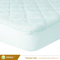 Super Soft Made with Eco-Friendly Bamboo Rayon Fiber Waterproof Fitted Quilted Baby Crib Mattress Protector Pad