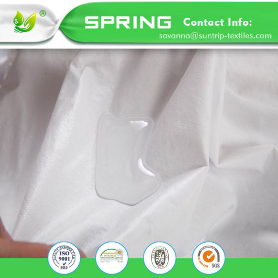"Waterproof Mattress Pad Protector Cover (Fitted 8"" - 21"" Deep Pocket) (Queen, White)"