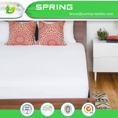 Bamboo Mattress Protector Waterproof Breathable Soft Fabric Queen Size Cover Bed