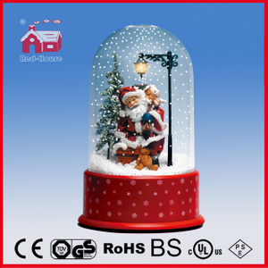 (P23036E) Snowing Scene Santa Claus Decoration for Christmas