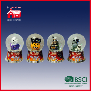 Halloween Gifts Creative Glass Water Ball Pumpkin Skull Ghost Witch Figures Inside