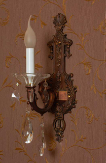 Simple design indoor decorative crystal wall lamp (WB7033 - 1)