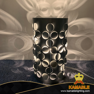 New design modern elegant interior guestroom decorative grey cylinder table lamp (KAW023)