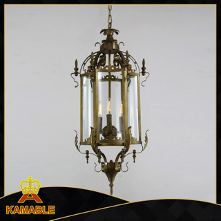 Antique steel decorative lantern shape pendant light(KM0114P-3 )