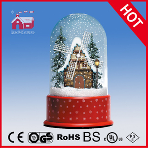 (P23036W) Windmill House Christmas Decoration with Transparent Case
