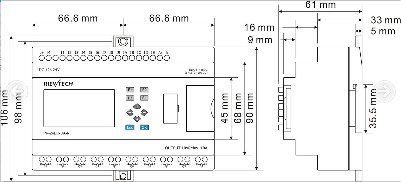 Pr 24dc Dai Rta Buy Plc Rievtech Siemens Logo Product On Zelio Wiring Diagram
