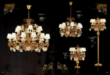 Hotel lobby hourse Brass Luxury chandelier (MD0909-12+6)