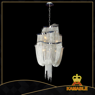 Silver modern home decoration Chain chandelier(KA127)