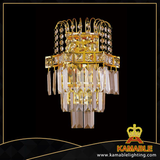 Square crystal decorative hotel wall lamps(YHwb2532-L2)