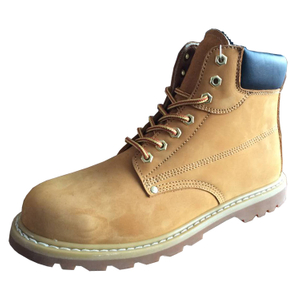 GY004 yellow nubuck leather anti static goodyear safety shoes s3