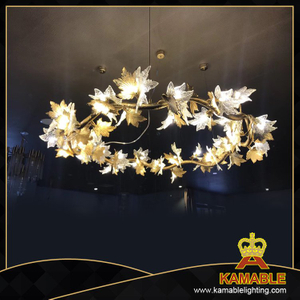 Hotel project decorative brass pendant lamps(KAP17-110)