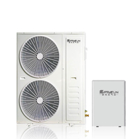 14KW 16KW 31KW EVI Split Air to Water Heat Pump for Cold Climate House Heating and Cooling