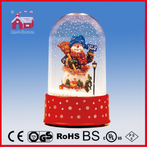 (P18030K) Snowman Christmas Decoration with Round Top Case